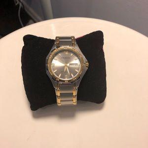Armitron Men's Silver Gold Two-Tone Steel Watch